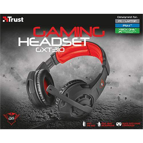 Fone Headset Gamer GXT 310 PS4 Xbox One e PC - Trust