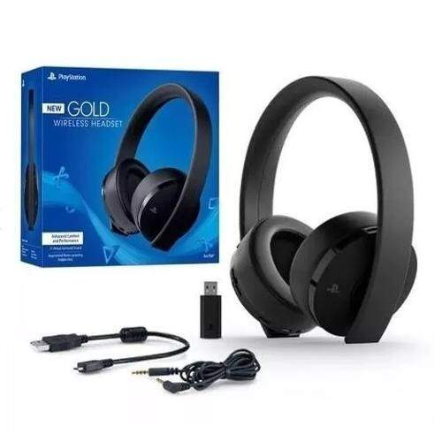 Headset Gold Sony 7.1 Ps4 Ps3 Sem Fio Original Stereo