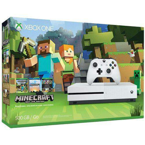 Console Xbox One S 500GB Minecraft