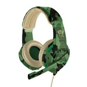 Fone Headset Gamer GXT 310 Camuflado Verde PS4 Xbox One e PC - Trust