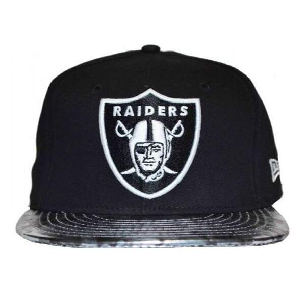 Boné New Era Raiders - Black - Strapback [NFL]