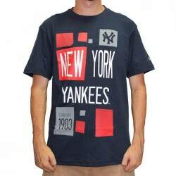 Camiseta New Era Poster New York Yankees - Navy