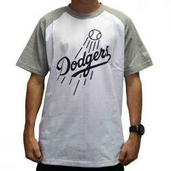 Camiseta New Era Raglan Los Angeles Dodgers - White