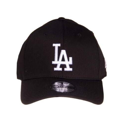 Boné New Era 39THIRTY Los Angeles Dodgers - One Size Fits Most - High Crown - Black/White