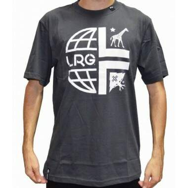 Camiseta LRG Whole World Tee - Chumbo
