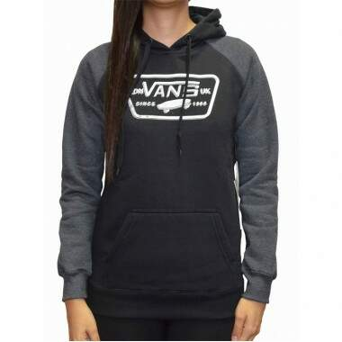 Moletom Vans Fechado Raglan Authentic Trap Pullover - Black
