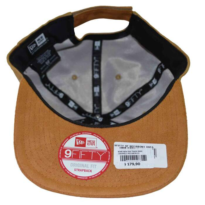 Boné New Era Original Fit Trade Mark Caramelo - Strapback