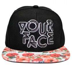 Boné Your Face Flower Preto - Snapback