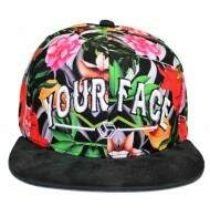 Boné Your Face Floral - Snapback