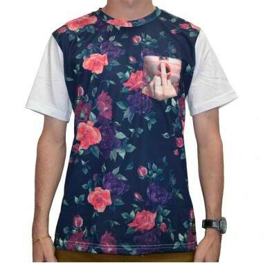 Camiseta Chronic Fckrs Floral - Branco