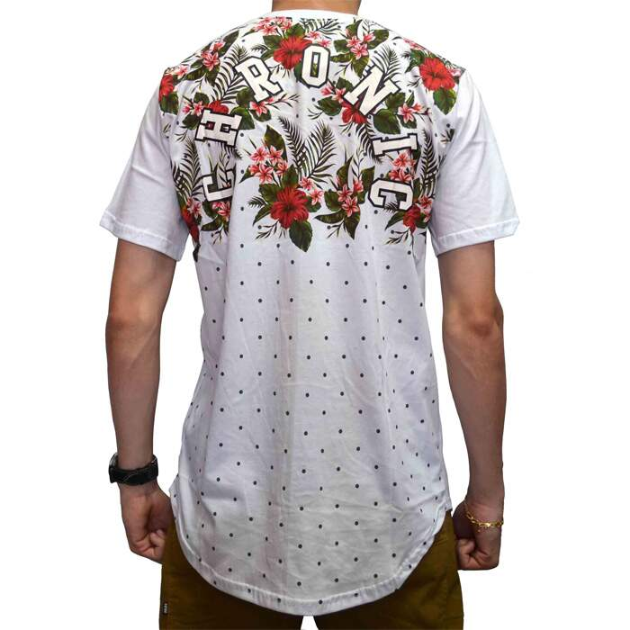 Camiseta Chronic Oversized Floral - Branco