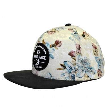 Boné Your Face Floral Branco - Snapback
