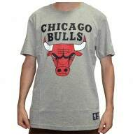 Camiseta New Era Logo Chicago Bulls NBA - Mescla