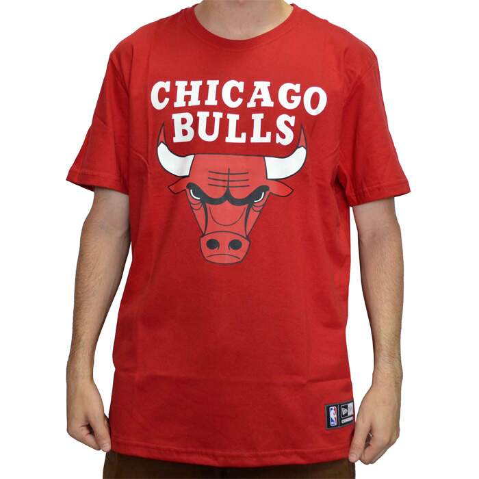 Camiseta New Era Logo Chicago Bulls NBA - Red