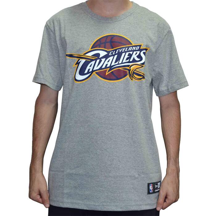 Camiseta New Era Logo Cleveland Cavaliers NBA - Grey