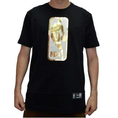 Camiseta New Era Log NBA - Black/Gold