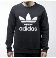 Moletom Adidas Careca Trefoil - Black