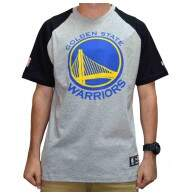 Camiseta New Era Raglan Golden State Warriors NBA - Grey