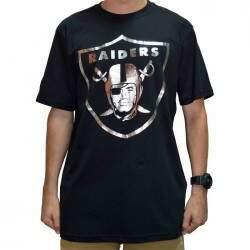 Camiseta New Era Oakland Raiders Reflect - Black