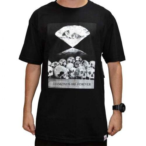Camiseta Diamond Supply Co Are Forever - Black