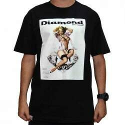 Camiseta Diamond Supply Co Centerfold - Black