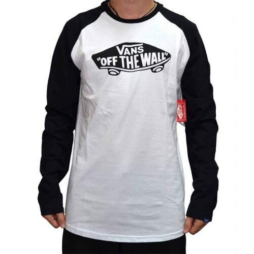 Camiseta Vans Manga Longa Off The Wall - Black/White