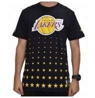 Camiseta New Era Constallation Los Angeles Lakers NBA - Black
