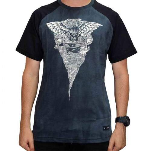 Camiseta New Skate Stained - Preto/Manchado