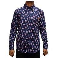 Camisa Your Face Floral - Azul/Floral