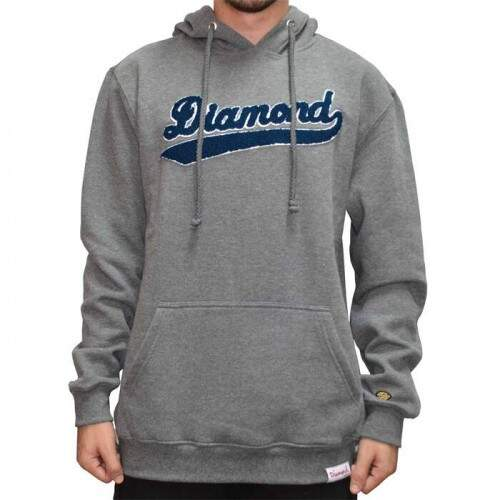 Moletom Diamond Supply Co League - Heather Metal