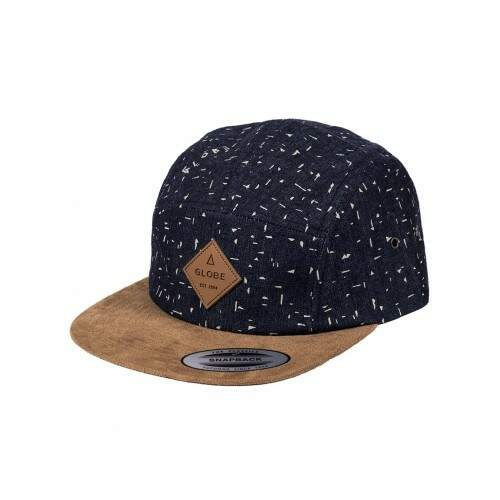 Boné Globe Denim 5Panel Strapback - Navy/Khaki