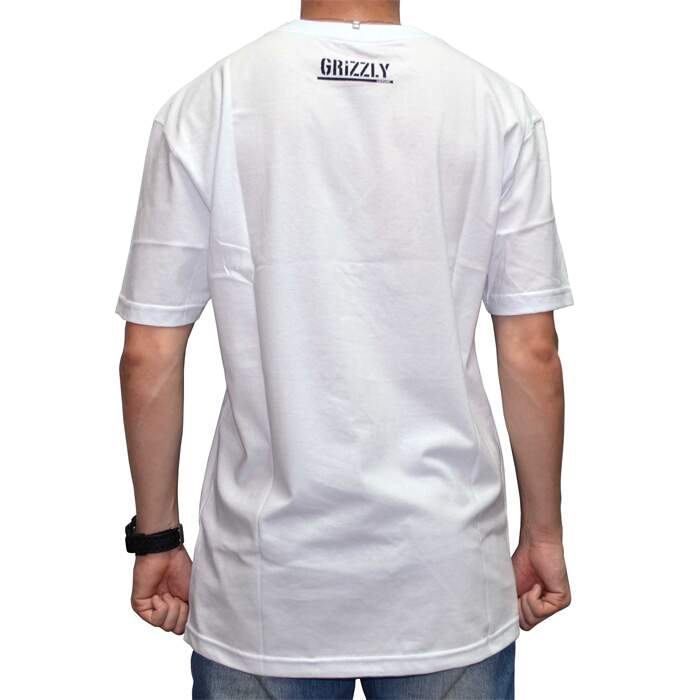 Camiseta Grizzly Trail Map Pocket - White