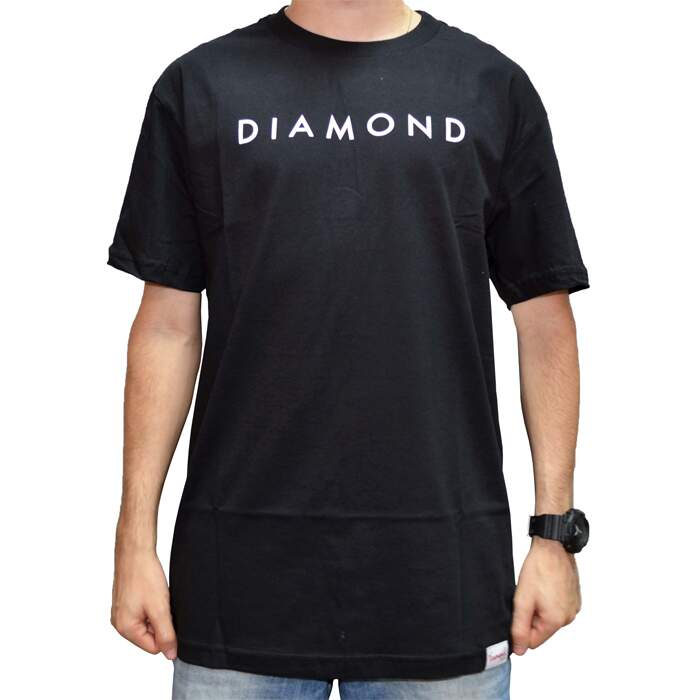 Camiseta Diamond Supply Co Practice - Black