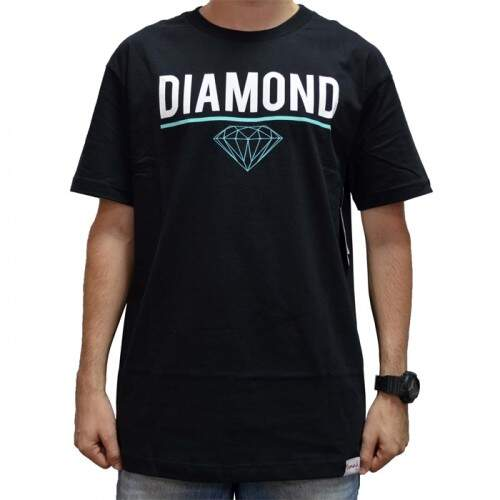 Camiseta Diamond Supply Co Stricke - Black
