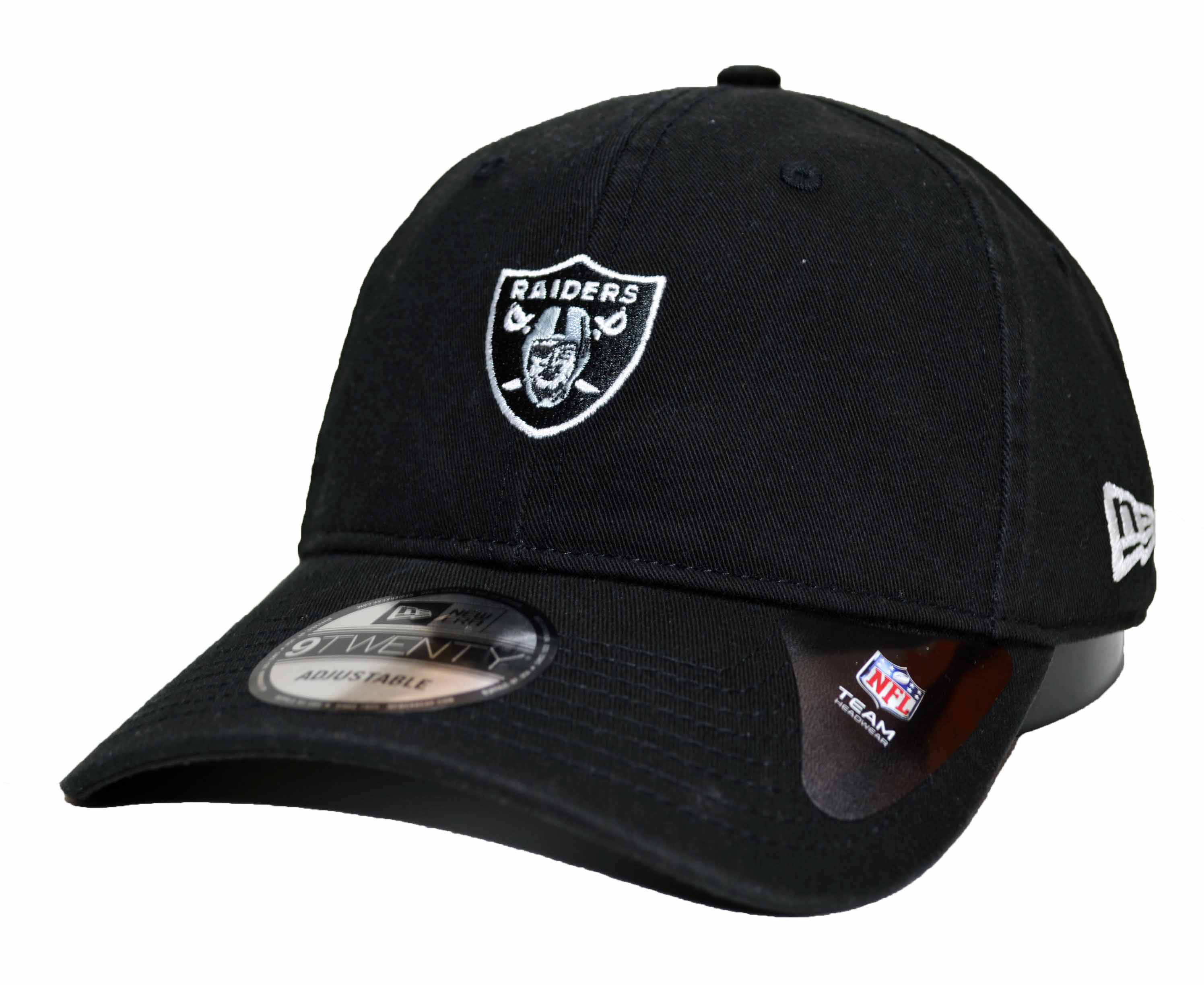 fa8dd6c6b95c9 Boné New Era Aba Curva Mini Logo Raiders Black - Strapback