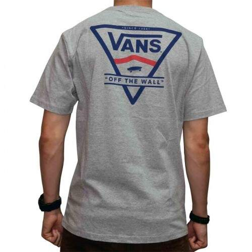 Camiseta Vans Classic Stripe Atletic - Heather