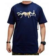 Camiseta Diamond Supply Co Leopord Script - Navy