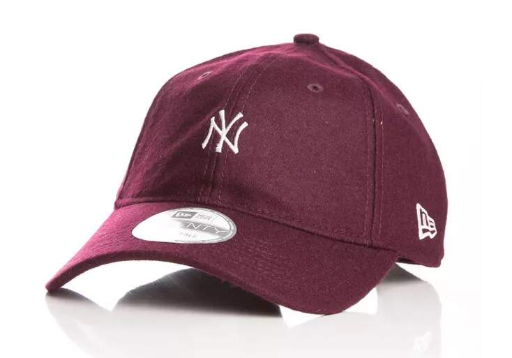 4c7aab7537e52 Boné New Era Aba Curva Mini Logo New York Vinho - Strapback