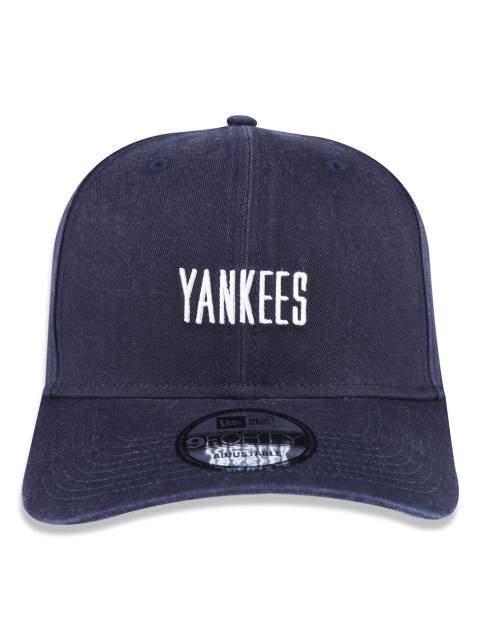 Boné New Era Aba Curva Mini Script Yankees Navy - Snapback