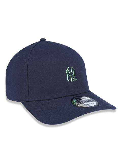 Boné New Era Aba Curva Mini Logo Yankees Neon Navy - Snapback