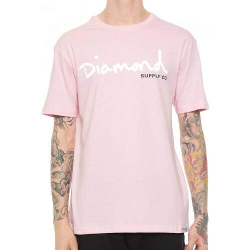 Camiseta Diamond Supply Co Og Script - Pink