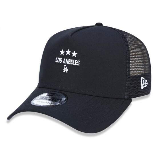 Boné New Era Aba Curva A-Frame Trucker Los Angeles Black - Snapback