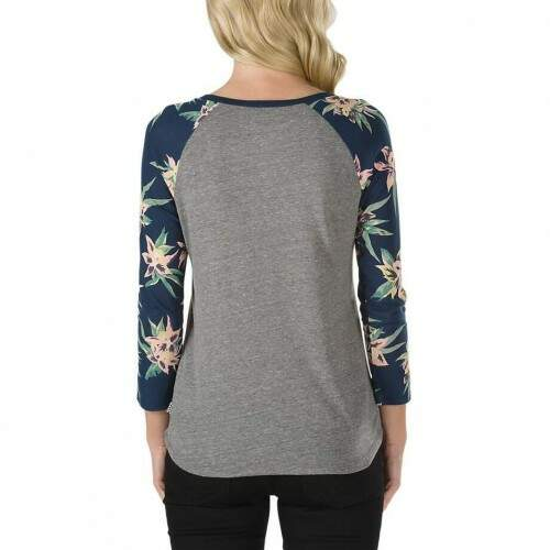 Camiseta Vans Raglan 3/4 Fall Tropics - Heather