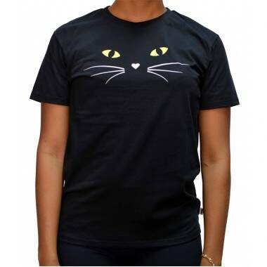 Camiseta Vans Boyfrine Cat - Black