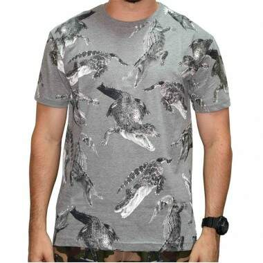 Camiseta Blunt Alligator - Cinza