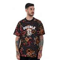 Camiseta Double G Roses and Snakes