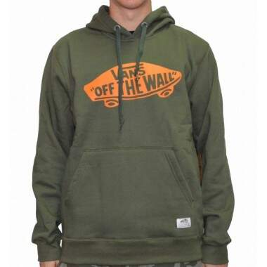 Moletom Vans Canguru Fechado Off the Wall Pullover Fleece - Verde Musgo