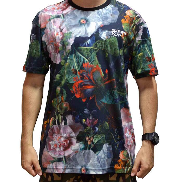 Camiseta Blunt Dark Green Floral