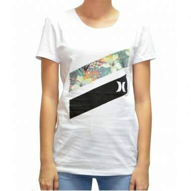 Camiseta Hurley Icon Slash Paradise - Branco