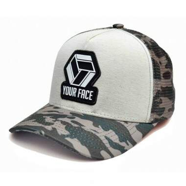 Boné Your Face Aba Curva Trucker Camo - Snapback